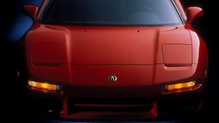 acura, nsx, red