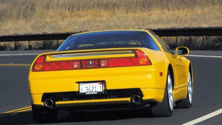 acura, nsx, yellow