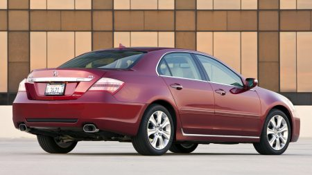 acura, rl, red