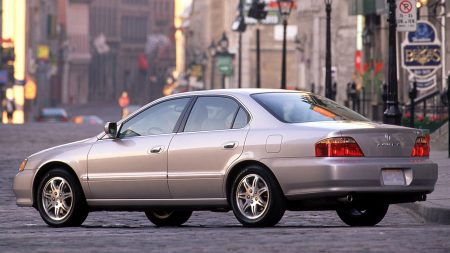 acura, tl, metallic gray