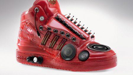 adidas, sneaker, stereo