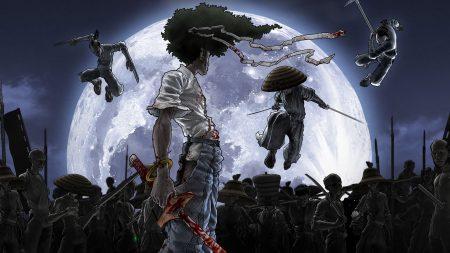 afrosamuray, sword, blood