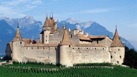 aigle, switzerland, castle