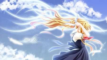 air, girl, blonde