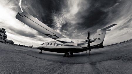 aircraft, runway, night