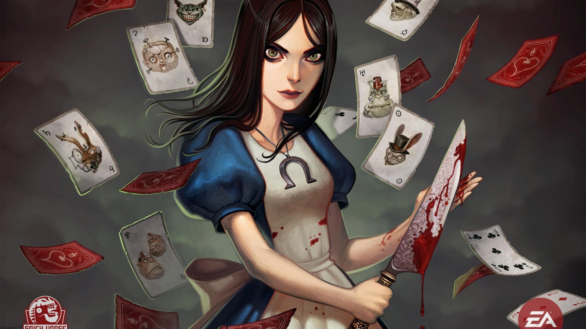Download Wallpaper 1920x1080 Alice Madness Returns Girl Knife