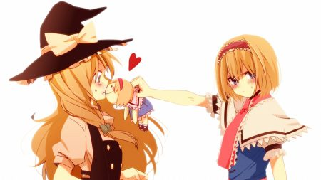 alice margatroid, kirisame marisa, girl