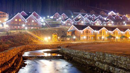 alps, home, night