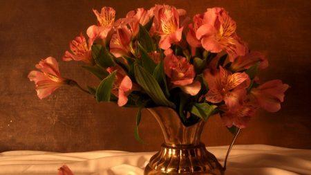 alstroemeria, bouquet, pitcher