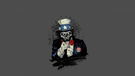 american, skull, propaganda