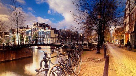 amsterdam, bicycles, street