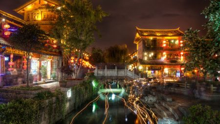 ancient city, lijiang, night