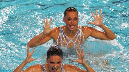 andrea fuentes, gemma mengual, synchronized swimming
