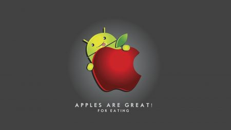 android, apple, red