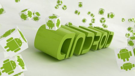 android, logo, green