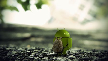 android, red, rocks