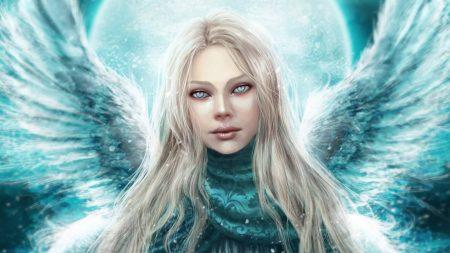 angel, girl, wings