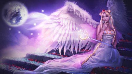 angel, wings, sitting