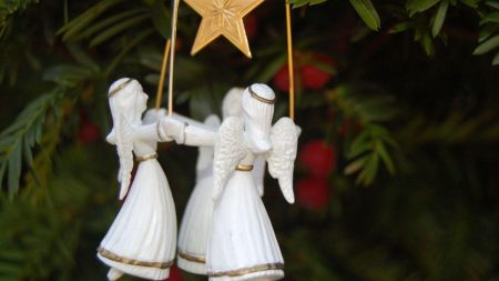 angels, star, holiday