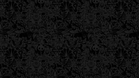 animals, drawing, black
