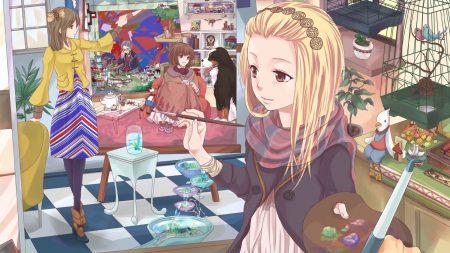 anime, girl, artist