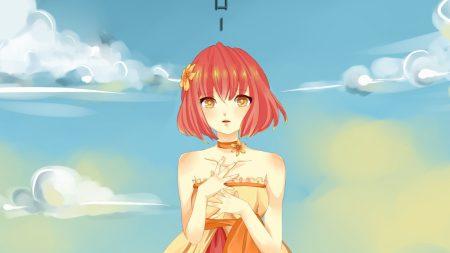 anime, girl, embarrassed