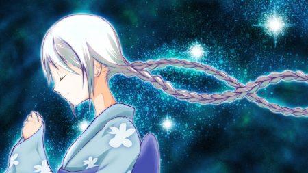 anime, girl, glow