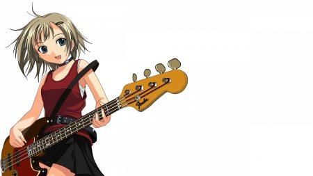 anime, girl, guitar