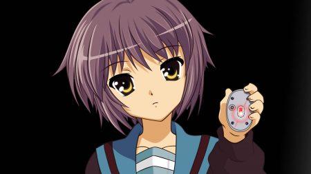 anime, girl, look