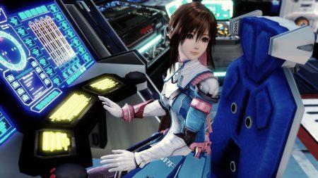 anime, girl, spacecraft