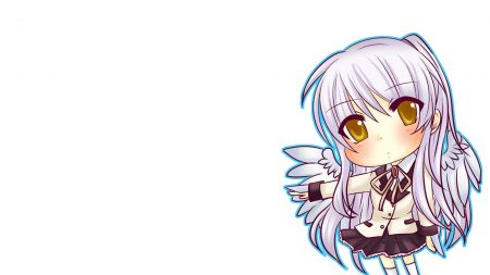 anime, girl, wings
