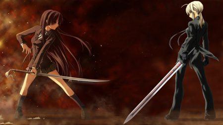 anime, girls, battle