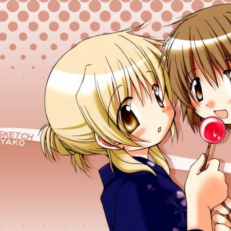anime, girls, food