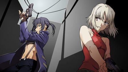 anime, girls, guns