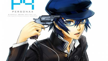 anime, gun, glasses