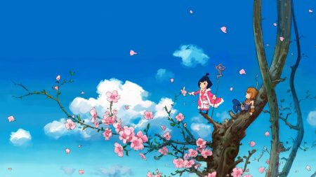 anime, tree, sky