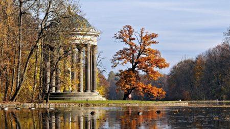 arbor, columns, park