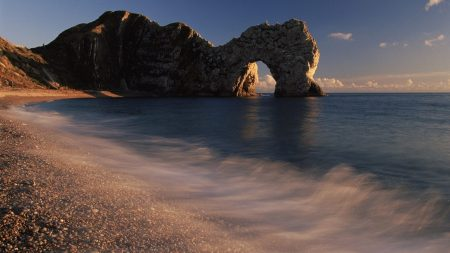 arch, coast, stones
