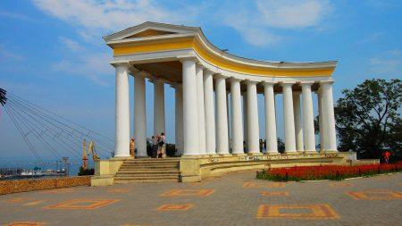 architecture, summer, colonnade