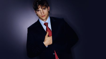ashton kutcher, brunette, jacket