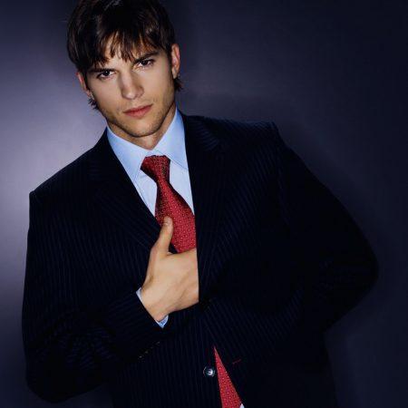 ashton kutcher, brunette, jacket