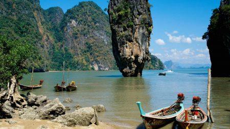 asia, boats, coast