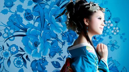 asian, geisha, kimono