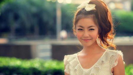 asian, smile, face