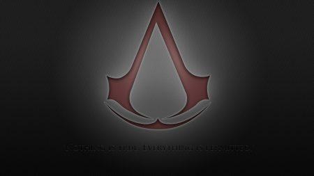 assassins creed, assassins symbol, red