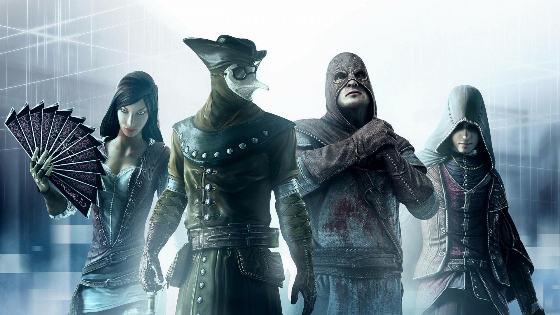 Download Wallpaper 1920x1080 Assassins Creed Characters Faces