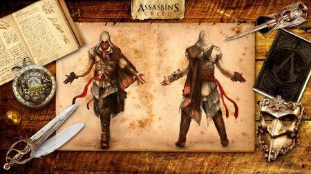 assassins creed, desmond miles, table