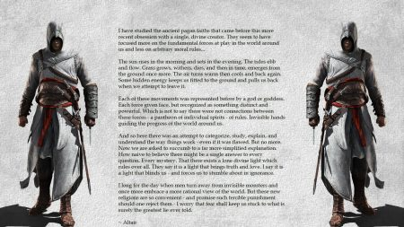 assassins creed, desmond miles, text