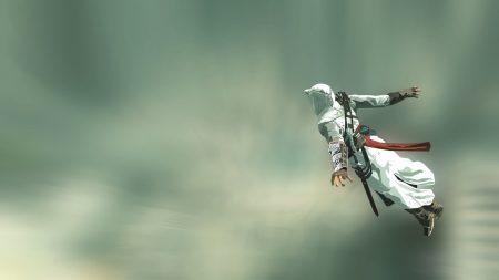 assassins creed, jump, arm