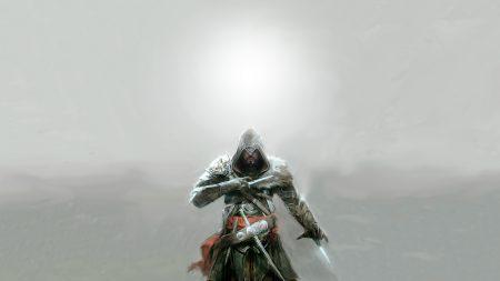 assassins creed, knifes, hood